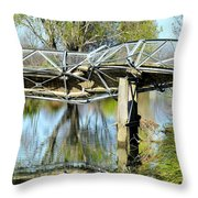 Earthquake Contortions Throw Pillow