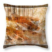 Earthtones Abstract Throw Pillow