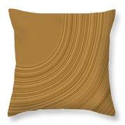 Earthy Swirls Throw Pillow
