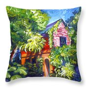 East Bay House In Charleston  Throw Pillow