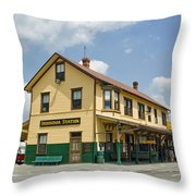 East Broad Top Station 1 Throw Pillow
