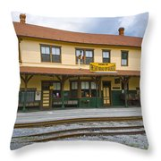 East Broad Top Station 2 Throw Pillow