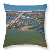 East Coast Aerial Throw Pillow