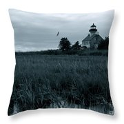 East Point Light Before The Storm  Throw Pillow