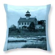East Point Light In The Clouds Throw Pillow