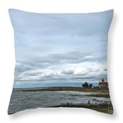 East Point Light Still Shines  Throw Pillow