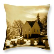 East Shelby Cemetary Throw Pillow