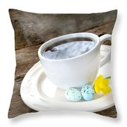 Easter Coffee Throw Pillow