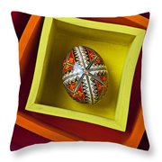 Easter Egg In Box Throw Pillow