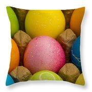 Easter Eggs Carton 2 A Throw Pillow