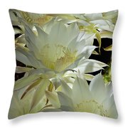 Easter Lily Cactus Bouquet Throw Pillow