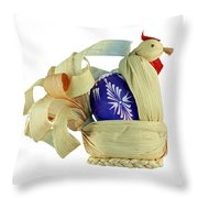 Easter Pullet Throw Pillow
