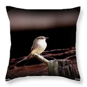 Eastern Phoebe - Sayornis Phoebe Throw Pillow