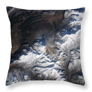 Eastern Russias Kizimen Volcano Throw Pillow