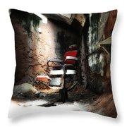 Eastern State Penitentiary - Barber's Chair Throw Pillow