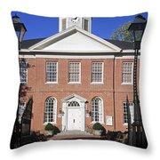 Easton Maryland Courthouse Throw Pillow