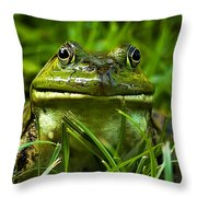 Easy To Be Green Throw Pillow