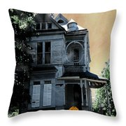 Eat Drink And Be Scary Throw Pillow
