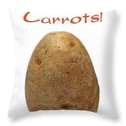 Eat More Carrots Throw Pillow