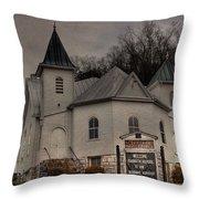 Ebenezer Arp Church Throw Pillow