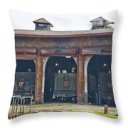 Ebt Roundhouse Closeup Throw Pillow