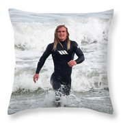 Echoes Of Baywatch Throw Pillow