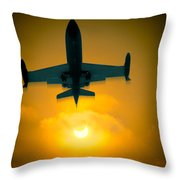 Eclipse Of The Sun Throw Pillow
