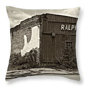 Economics 101...dreams Die Sepia Throw Pillow