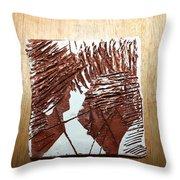 Ed And Ezra - Tile Throw Pillow