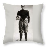 Eddie Mahan (1892-1951) Throw Pillow