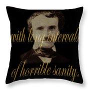 Edgar Allan Poe 2 Throw Pillow