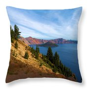 Edge Of The Crater Throw Pillow