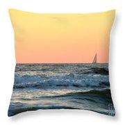 Edge Of The Ocean Throw Pillow