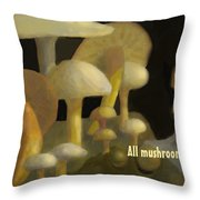 Edible Mushrooms Throw Pillow