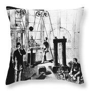 Edisons Electric Generator Throw Pillow