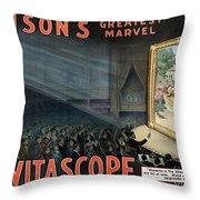 Edisons Vitascope, 1896 Throw Pillow