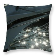 Edna's Bow Lights Throw Pillow