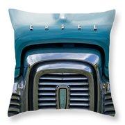 Edsel Corsair Grille Emblem Throw Pillow