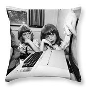 Education: Computers, 1983 Throw Pillow