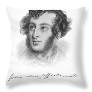 Edward Bulwer Lytton Throw Pillow