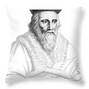 Edward Kelley, English Alchemist Throw Pillow by Science Source