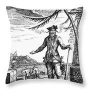 Edward Teach (?-1718) Throw Pillow