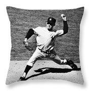 Edward Whitey Ford Throw Pillow
