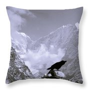 Eerie Himalayas Throw Pillow