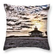 Eerie Lighthouse Throw Pillow