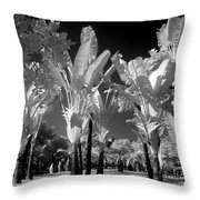 Eerie Palm Trees Throw Pillow