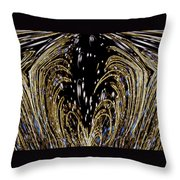 Effervescent Golden Arches Abstract Throw Pillow by Carolyn Marshall
