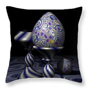 Egg And Goblet Throw Pillow