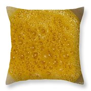 Square Format. Sunny Egg Bubbles  Throw Pillow