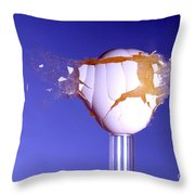 Egg Hit By A Bullet Throw Pillow